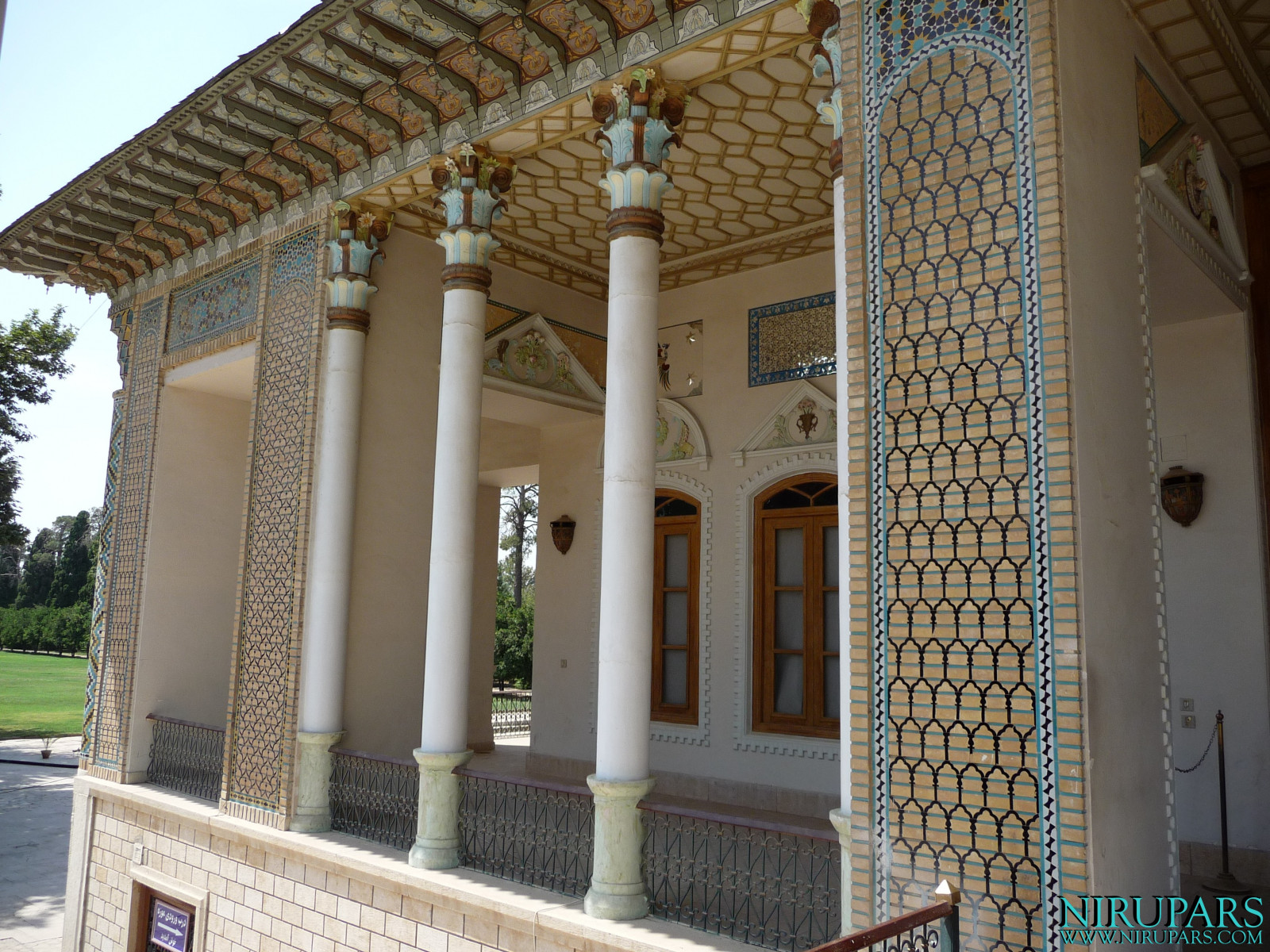 Baq-e Afifabad - Building - Front Facade - Balcony Left