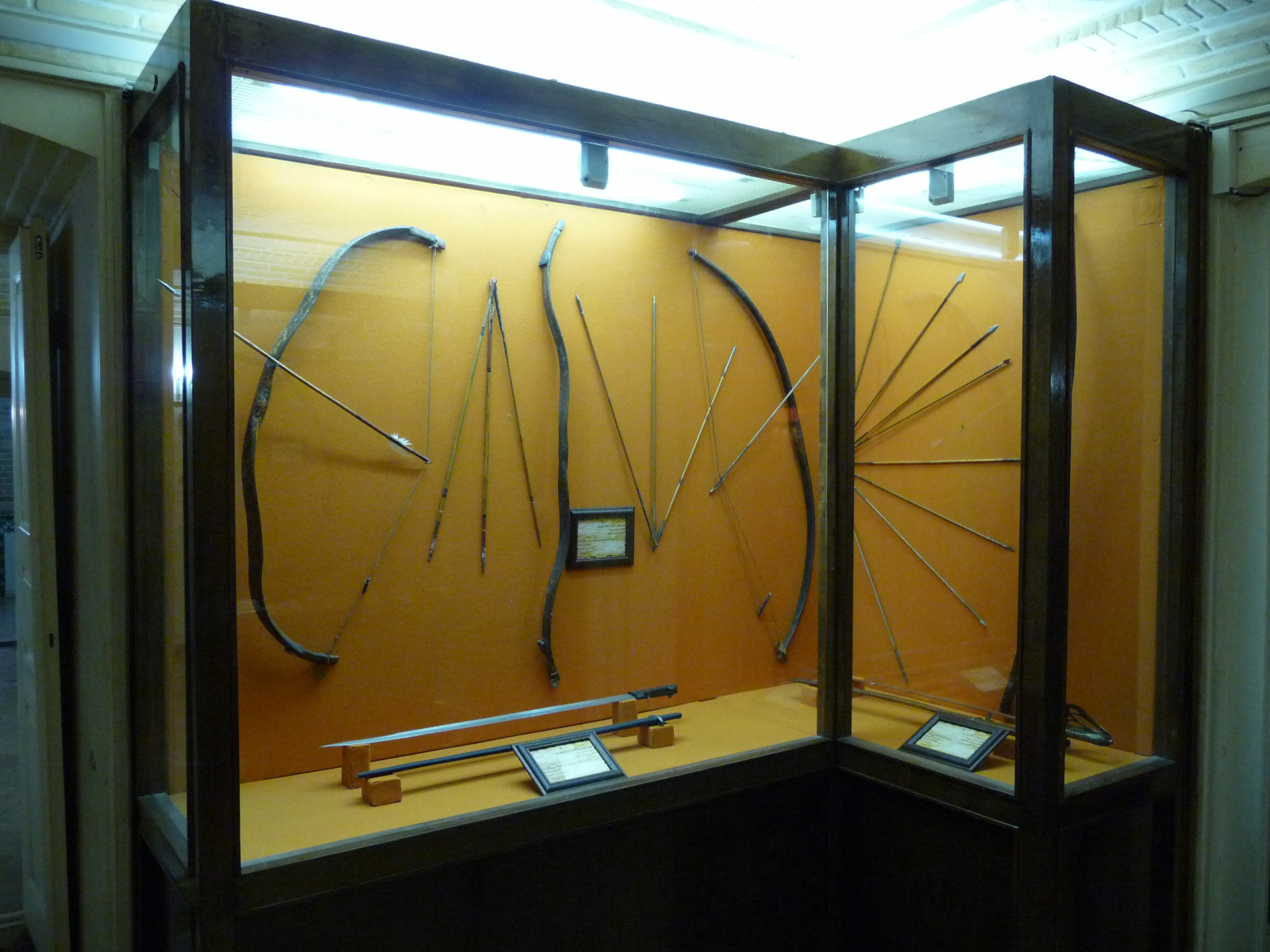 Baq-e Afifabad - Museum - Ceremonial Bows Arrows