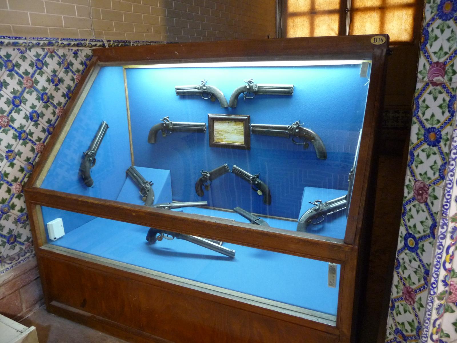 Baq-e Afifabad - Museum - Pistols - Qajar Period 19C England