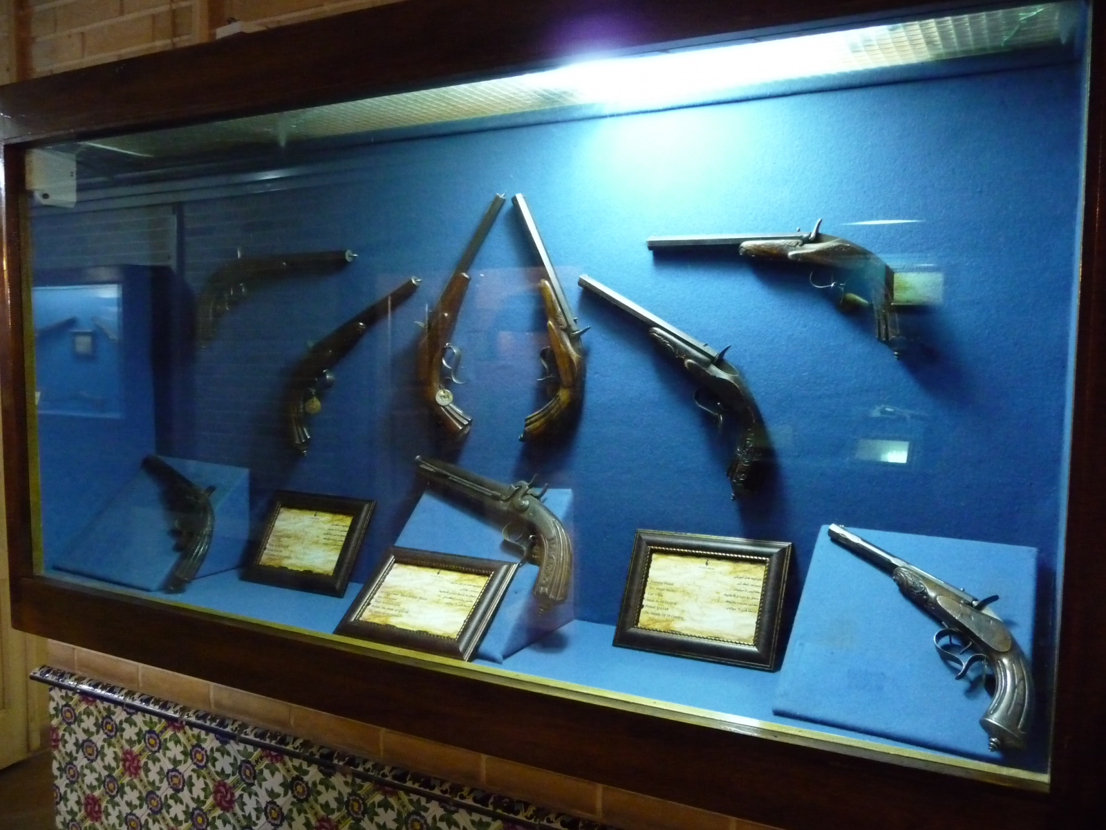 Baq-e Afifabad - Museum - Pistols - Qajar Period Belgium England