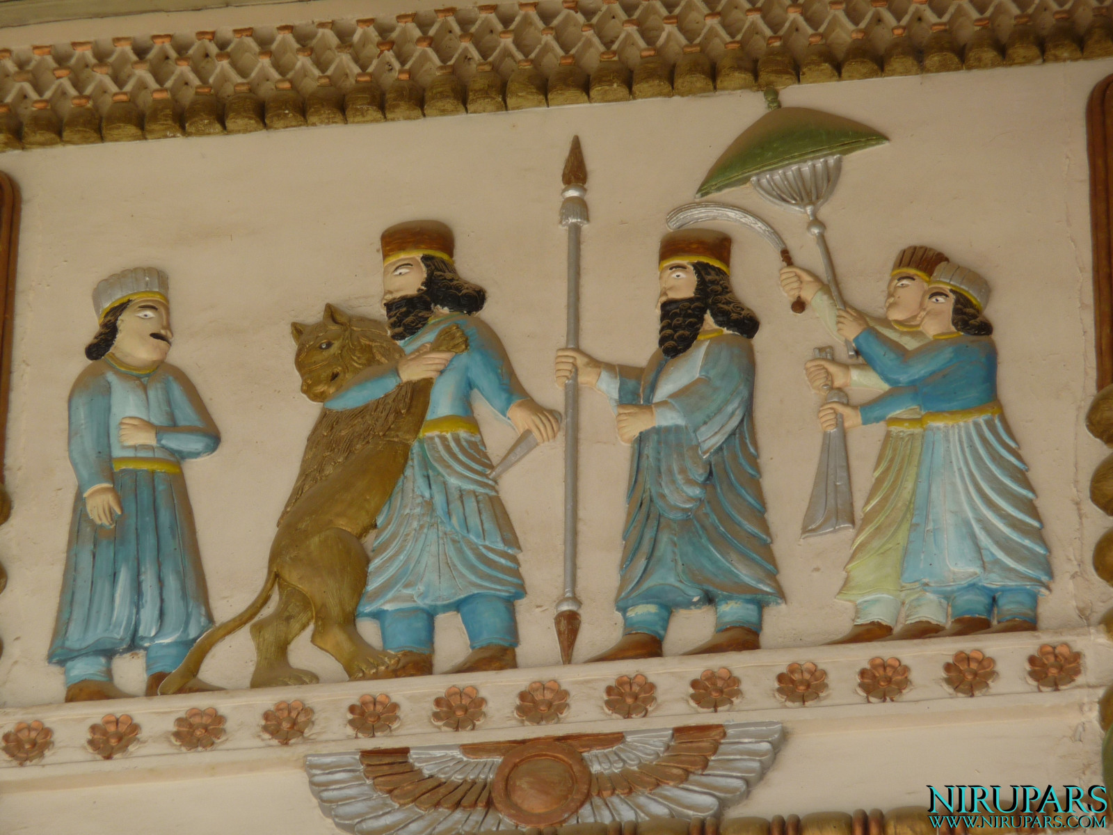 Baq-e Afifabad - Relief - King - Lion