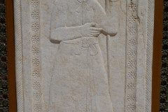 Baq-e Afifabad - Relief - Facade - Soldier - Spear