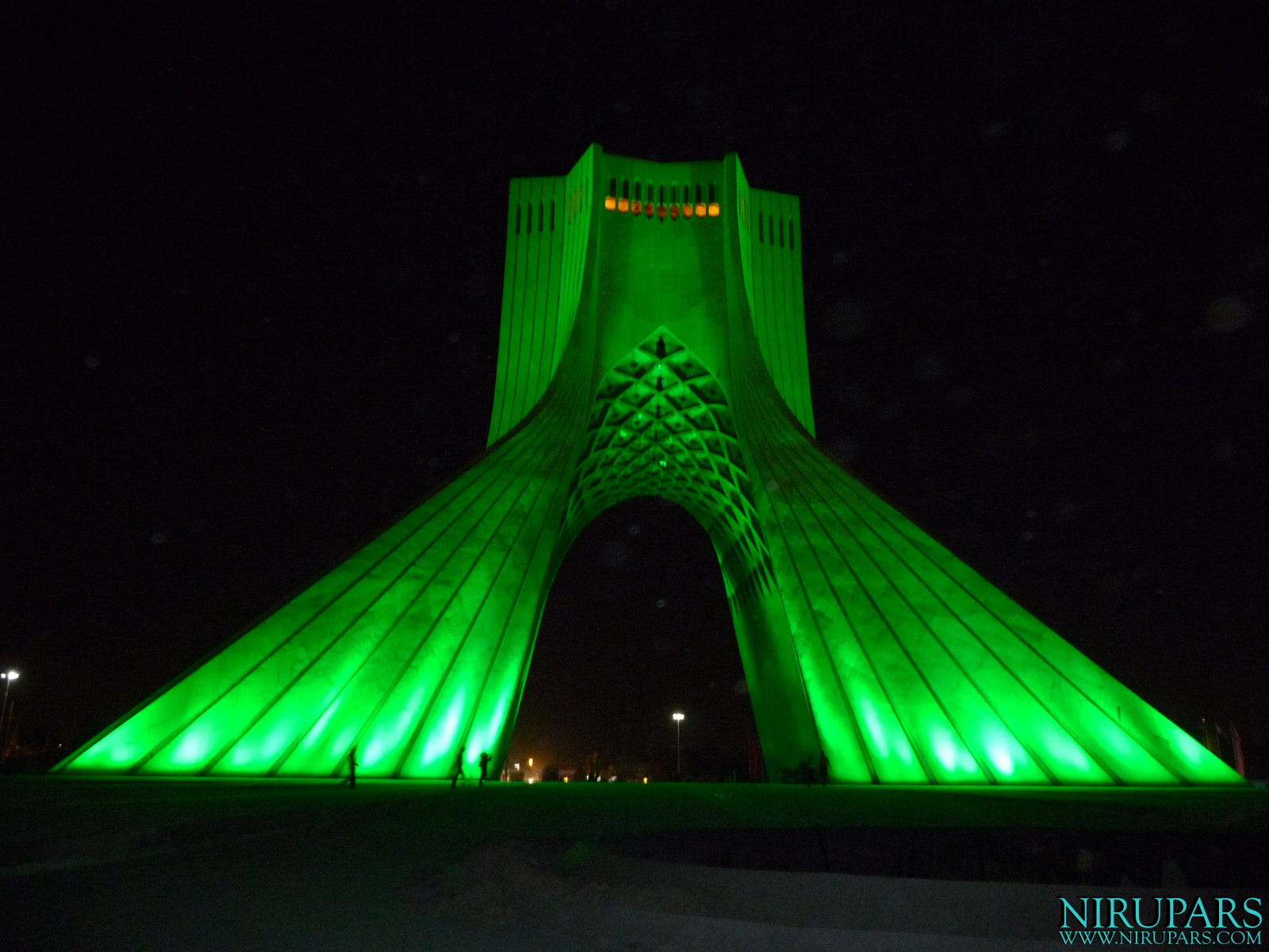 Meydan-e Azadi - Night Green