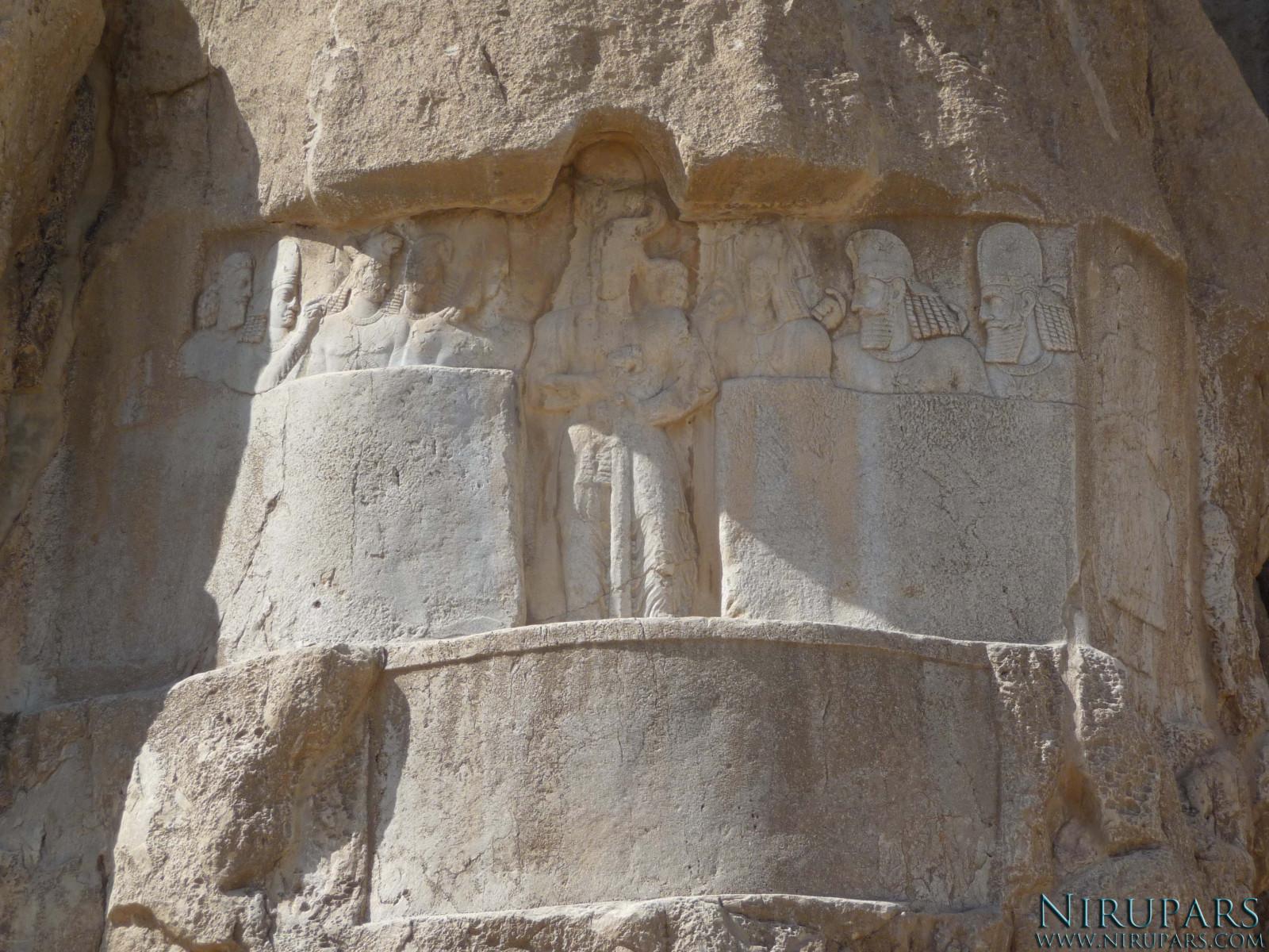 Naqsh-e Rostam - Relief - Bahram II - First relief