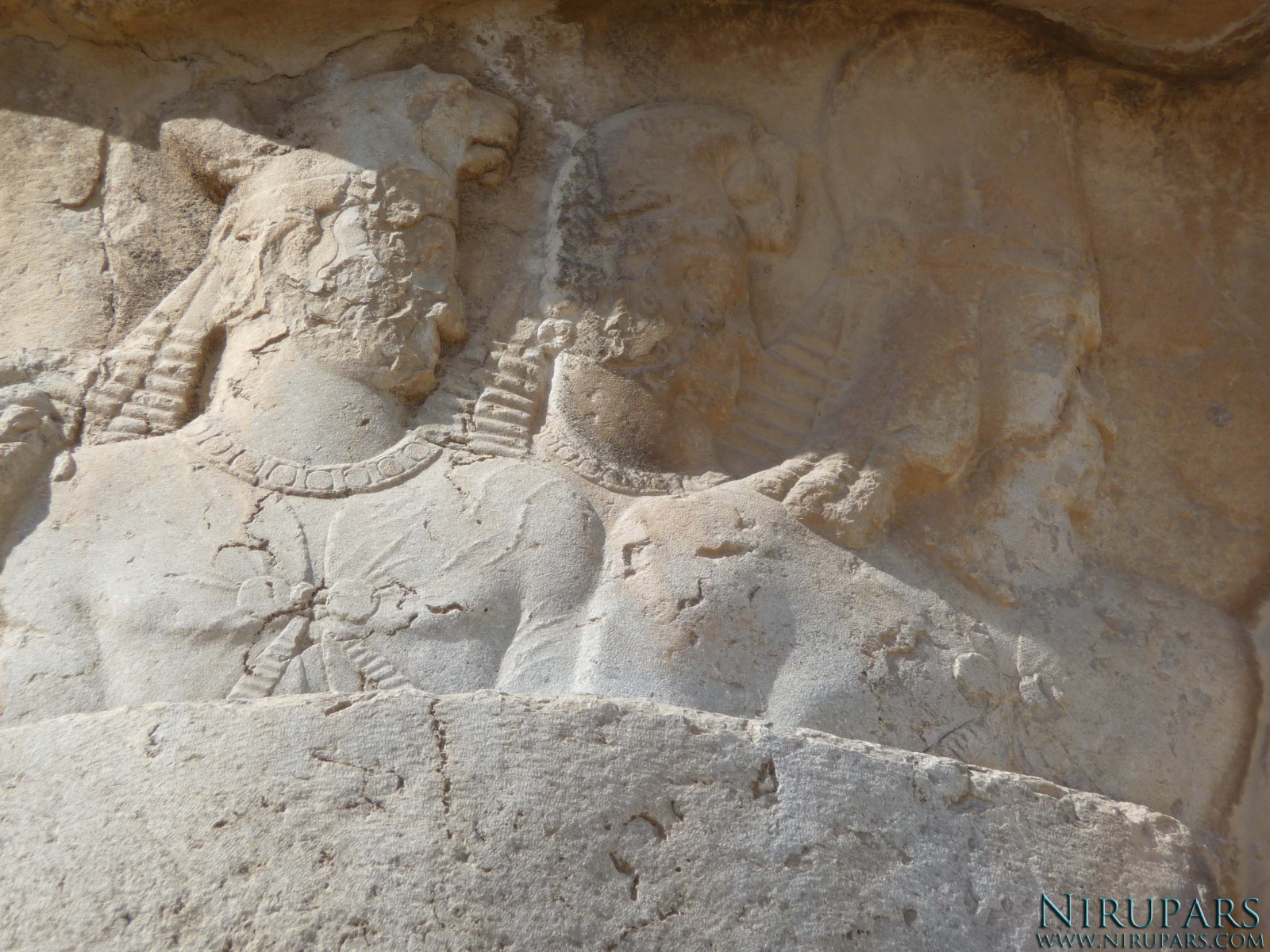 Naqsh-e Rostam - Relief - Bahram II - First relief - Nobleman