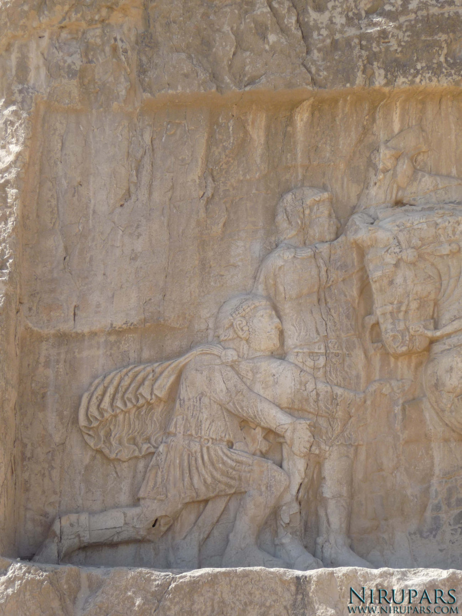 Naqsh-e Rostam - Relief - Shapur the Great - Philip - Valerian