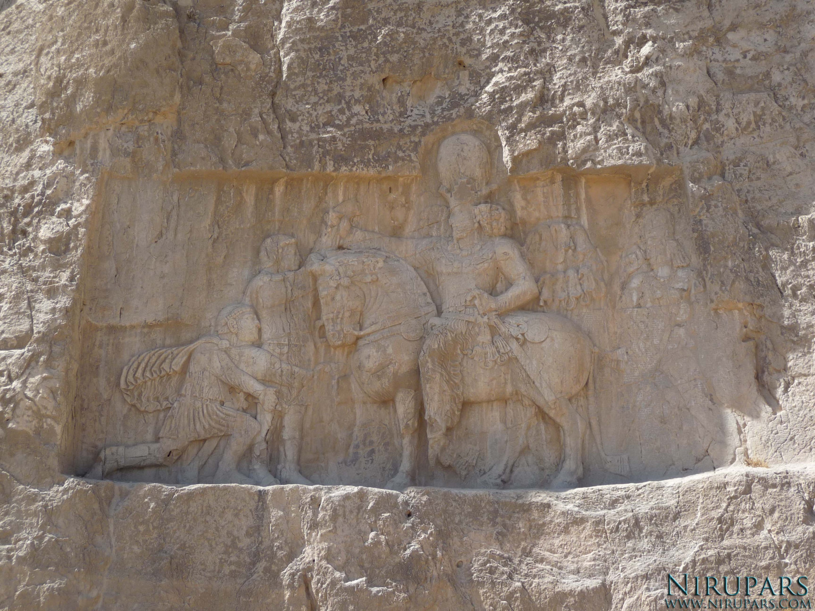 Naqsh-e Rostam - Relief - Shapur the Great - Valerian - Philip the Arab