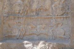 Naqsh-e Rostam - Relief - Bahram II - Battle scene