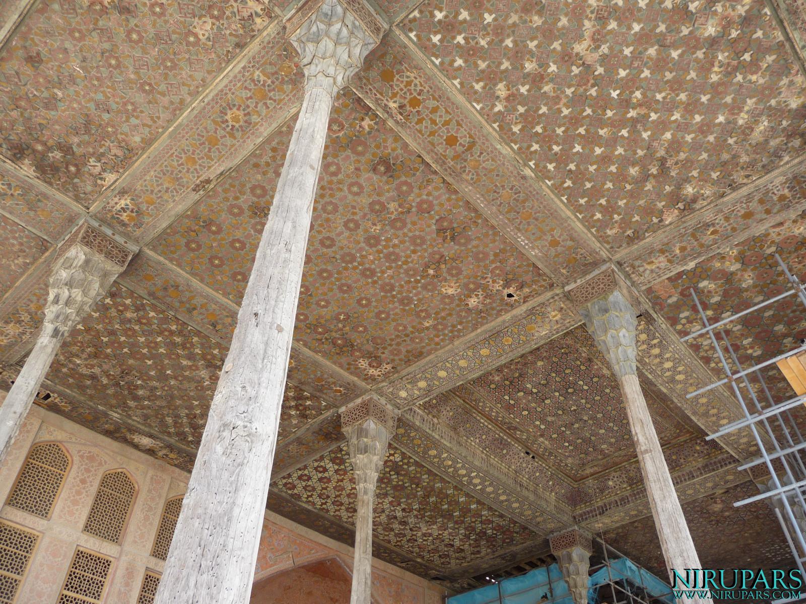 Naqsh-e Jahan - Ali Qapu Palace - Terrace Ceiling