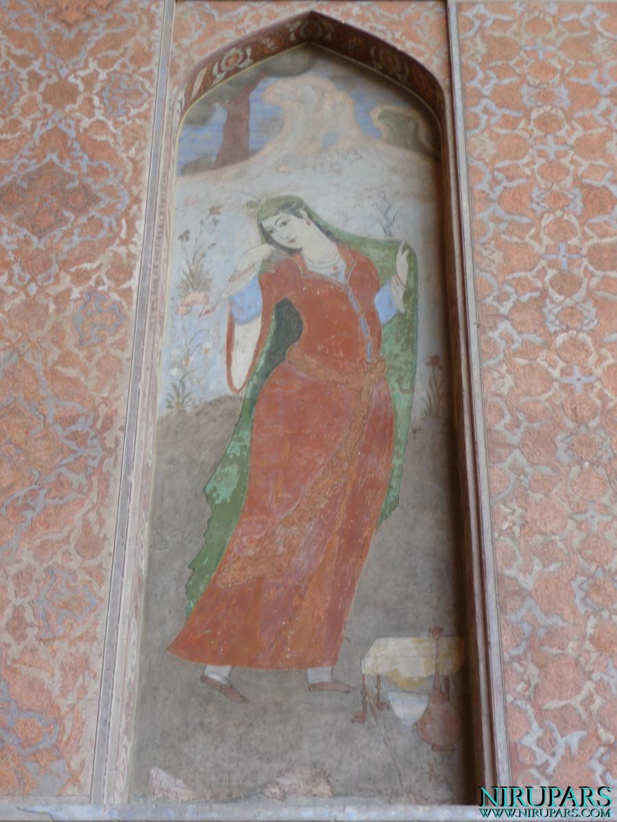 Naqsh-e Jahan - Ali Qapu Palace - Wall Painting