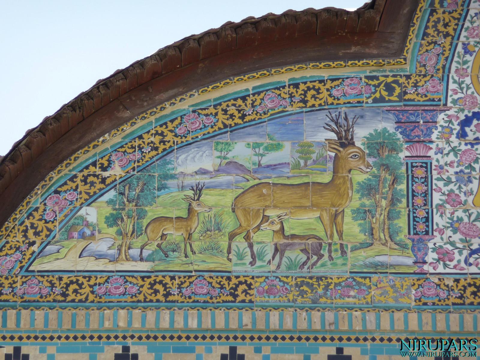 Naranjestan-e Qavam - Pediment Painting Deer