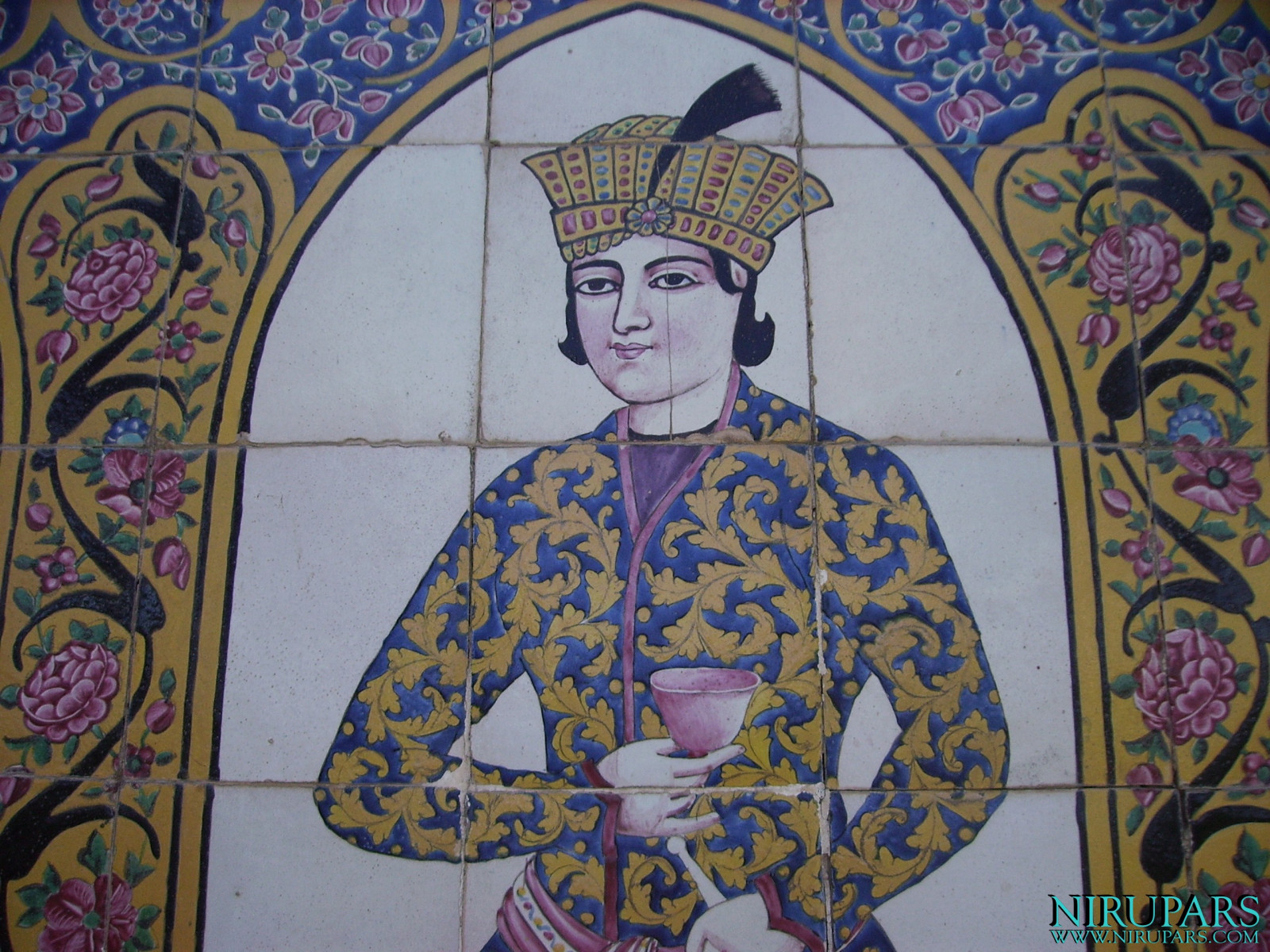 Naranjestan-e Qavam - Wall painting