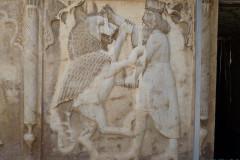 Naranjestan-e Qavam - Relief - King Ahriman Fight
