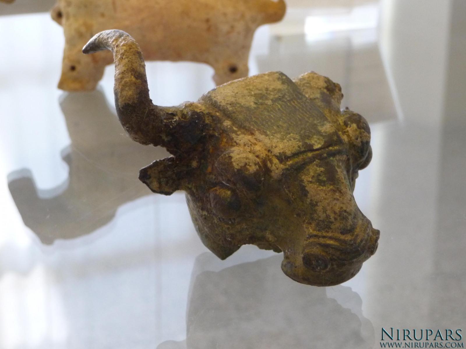 National Museum of Iran - Bronze Bullhead Fragment