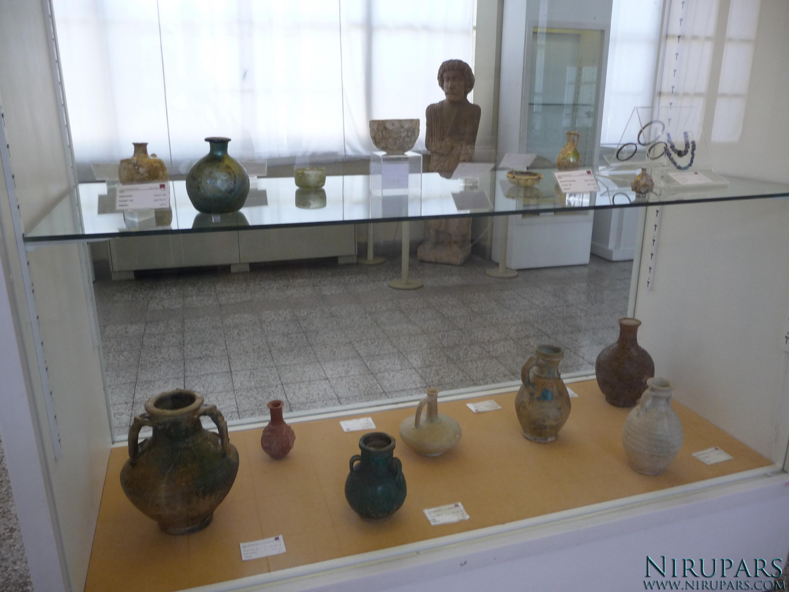 National Museum of Iran - Display Window - Ancient Vessels Jugs