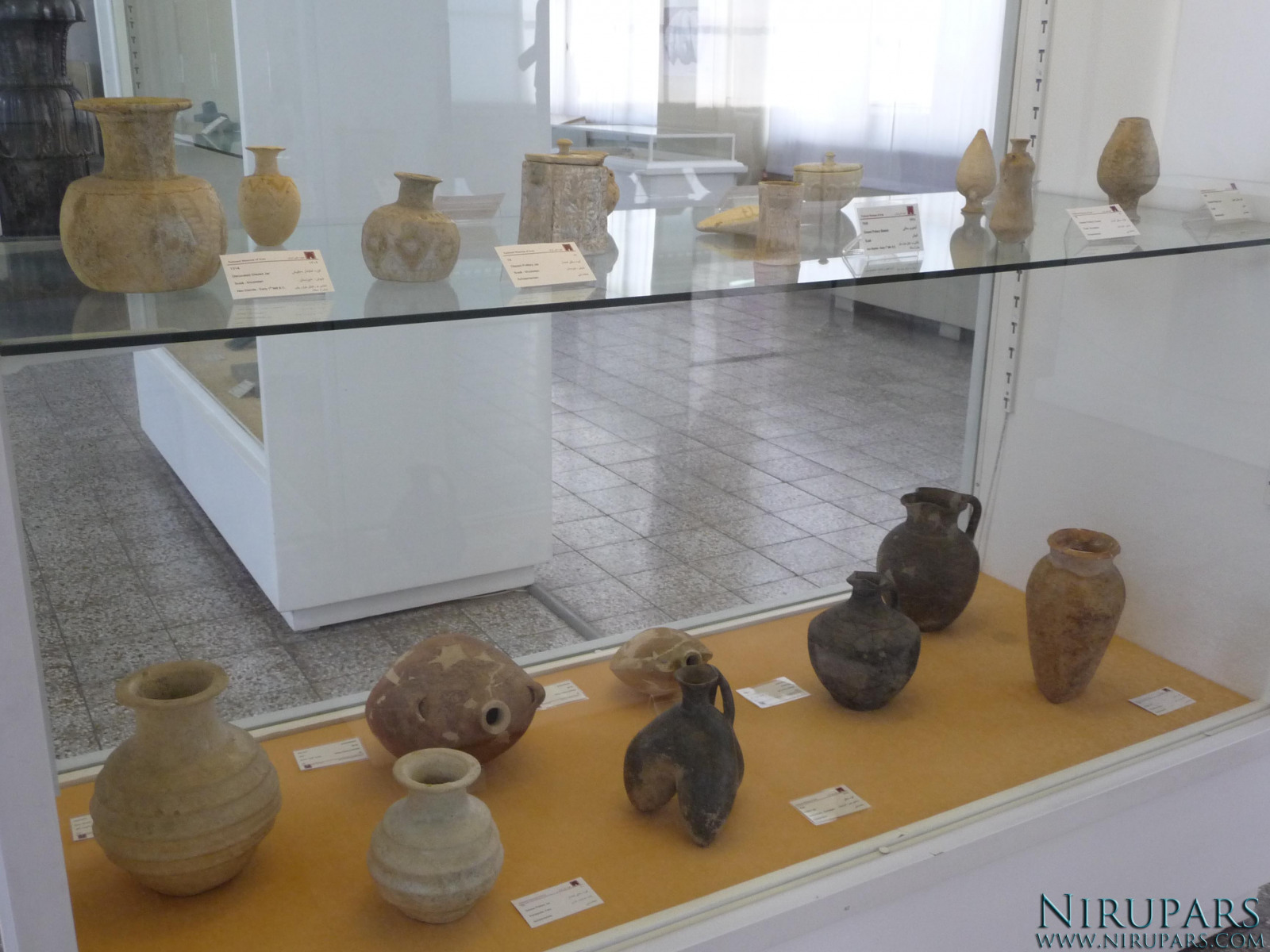 National Museum of Iran - Display Window - Ancient Vessels - Pottery