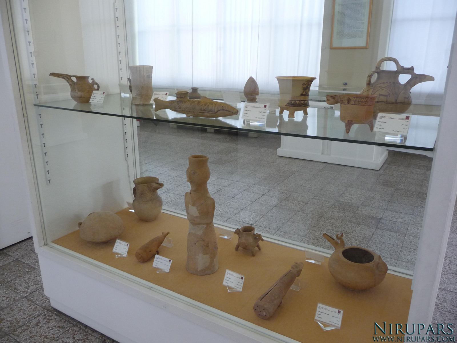 National Museum of Iran - Display Window - Vessels Items Pottery
