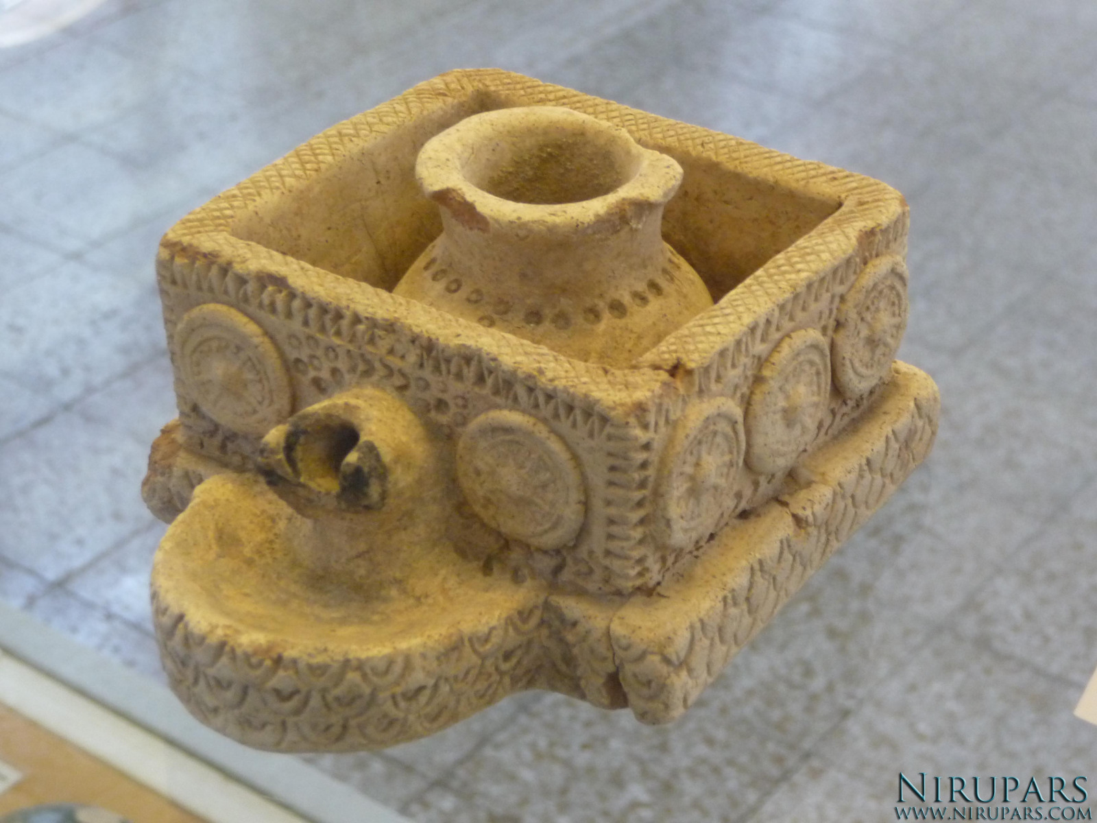 National Museum of Iran - Pottery Oil Lamp