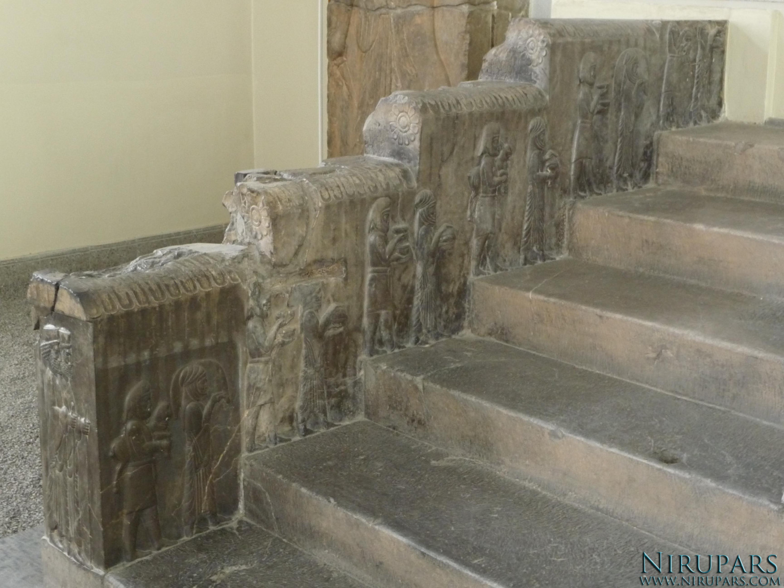 National Museum of Iran - Relief Delegations Stairs