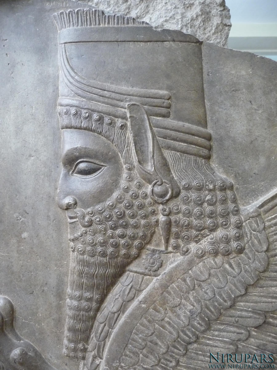 National Museum of Iran - Relief Winged Human-Lion