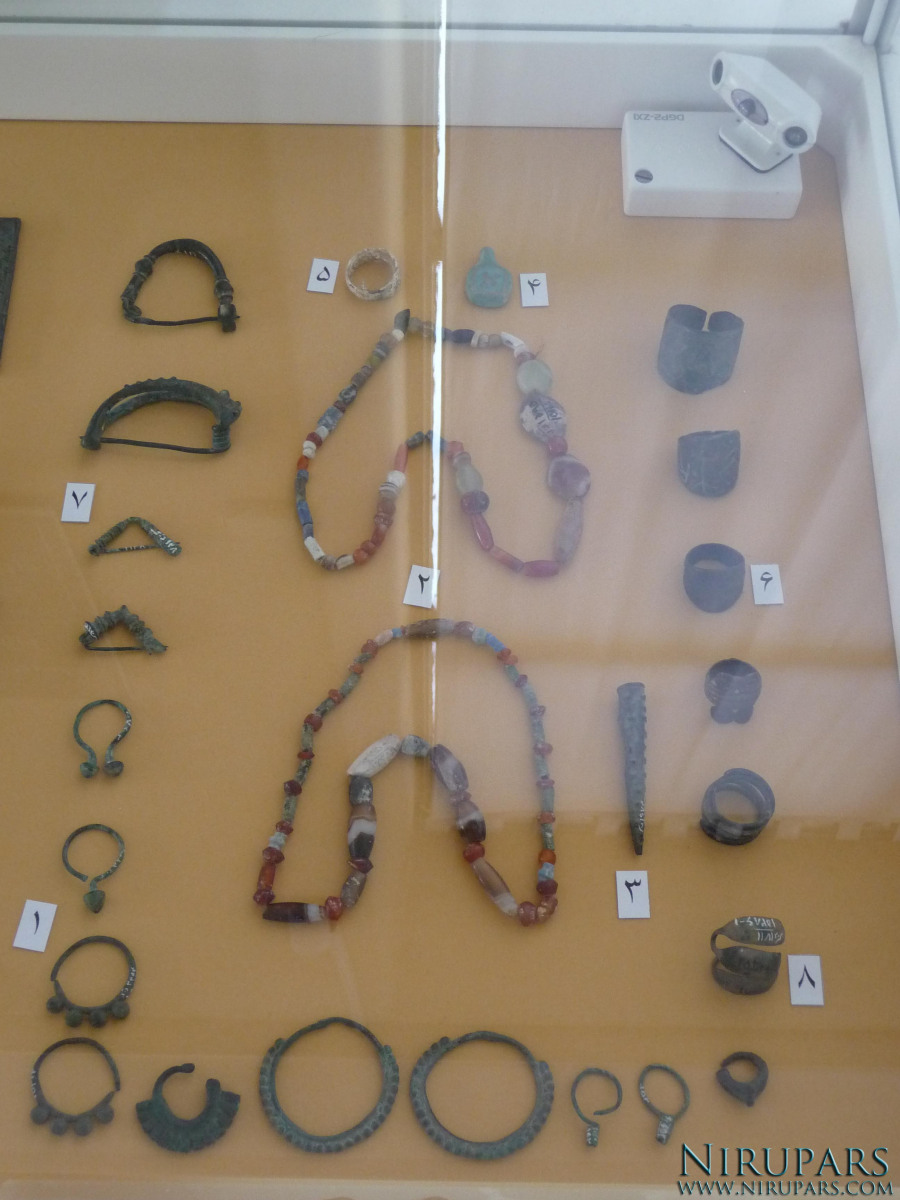 National Museum of Iran - Stone Necklaces Rings - Bronze Jewelry