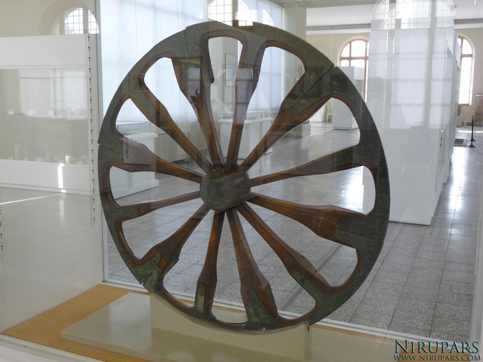 National Museum of Iran - Wheel Wood