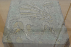 National Museum of Iran - Stone Plate - Relief Painted