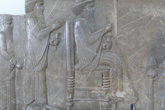 National Museum of Iran - Throne Relief - Xerxes I - Darius the Great