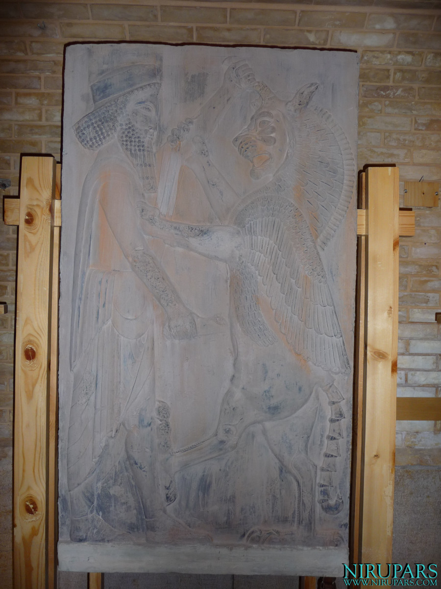 Pars History Museum - Relief - King Ahriman Fight