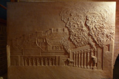 Pars History Museum - Relief - Persepolis Fire