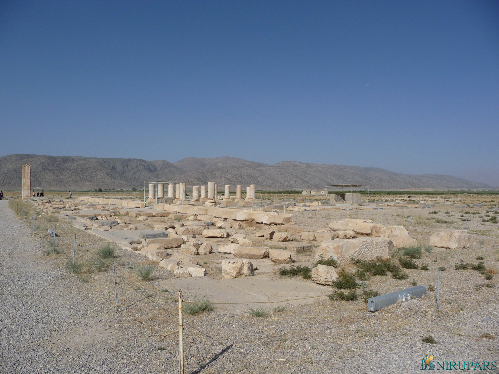 Pasargadae - Palace P - Portico