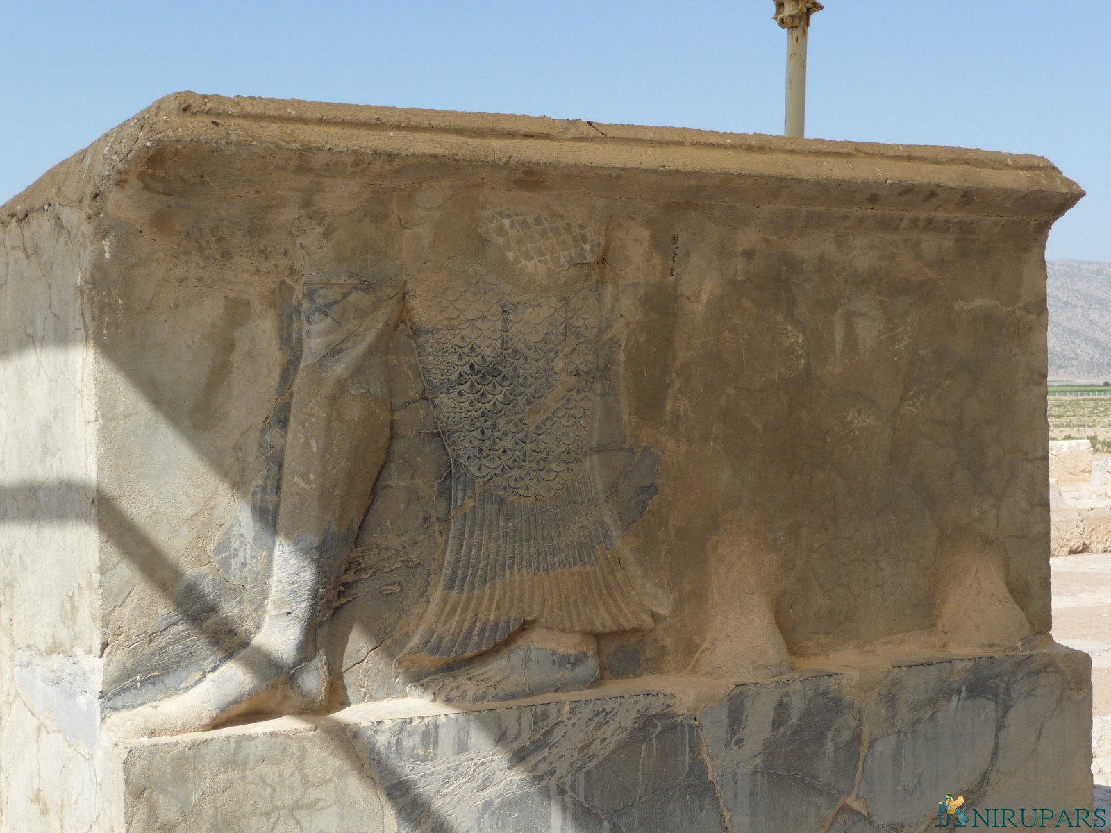 Pasargadae - Palace S - Audience Hall - Relief Bull-Human-Fish