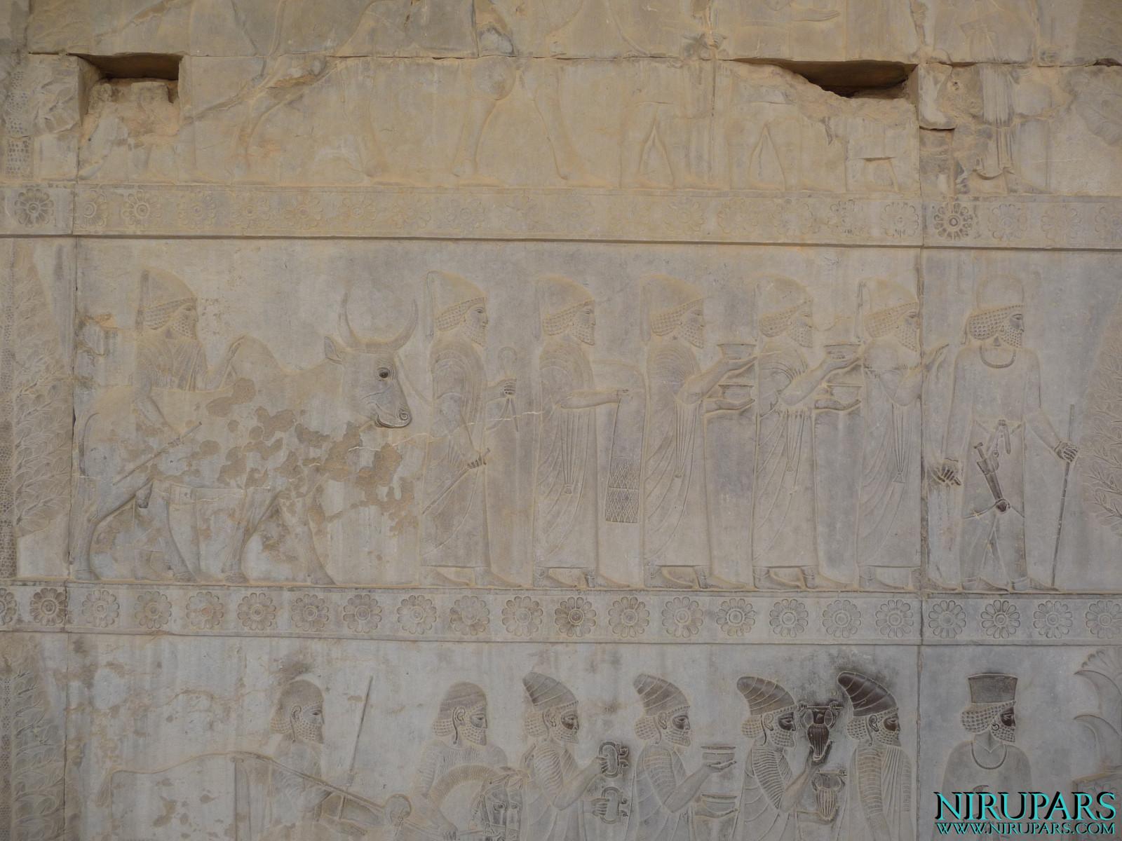 Persepolis - Apadana - East Portico - Delegation Babylon