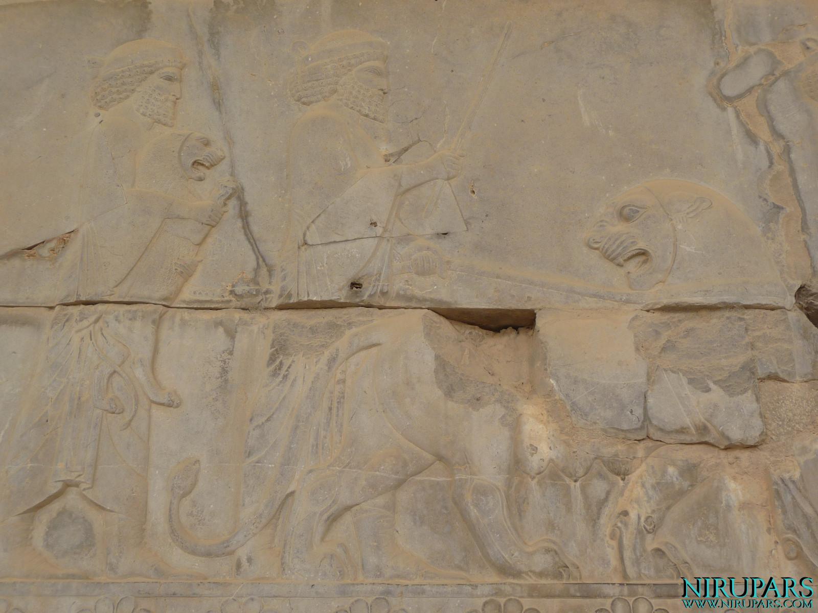 Persepolis - Apadana - East Portico - Delegation Elam - Lioness - Cub