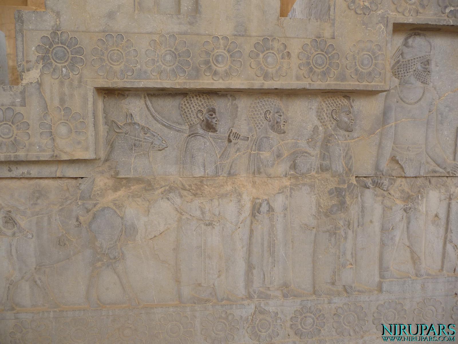 Persepolis - Apadana - East Portico - Delegation Ethiopia
