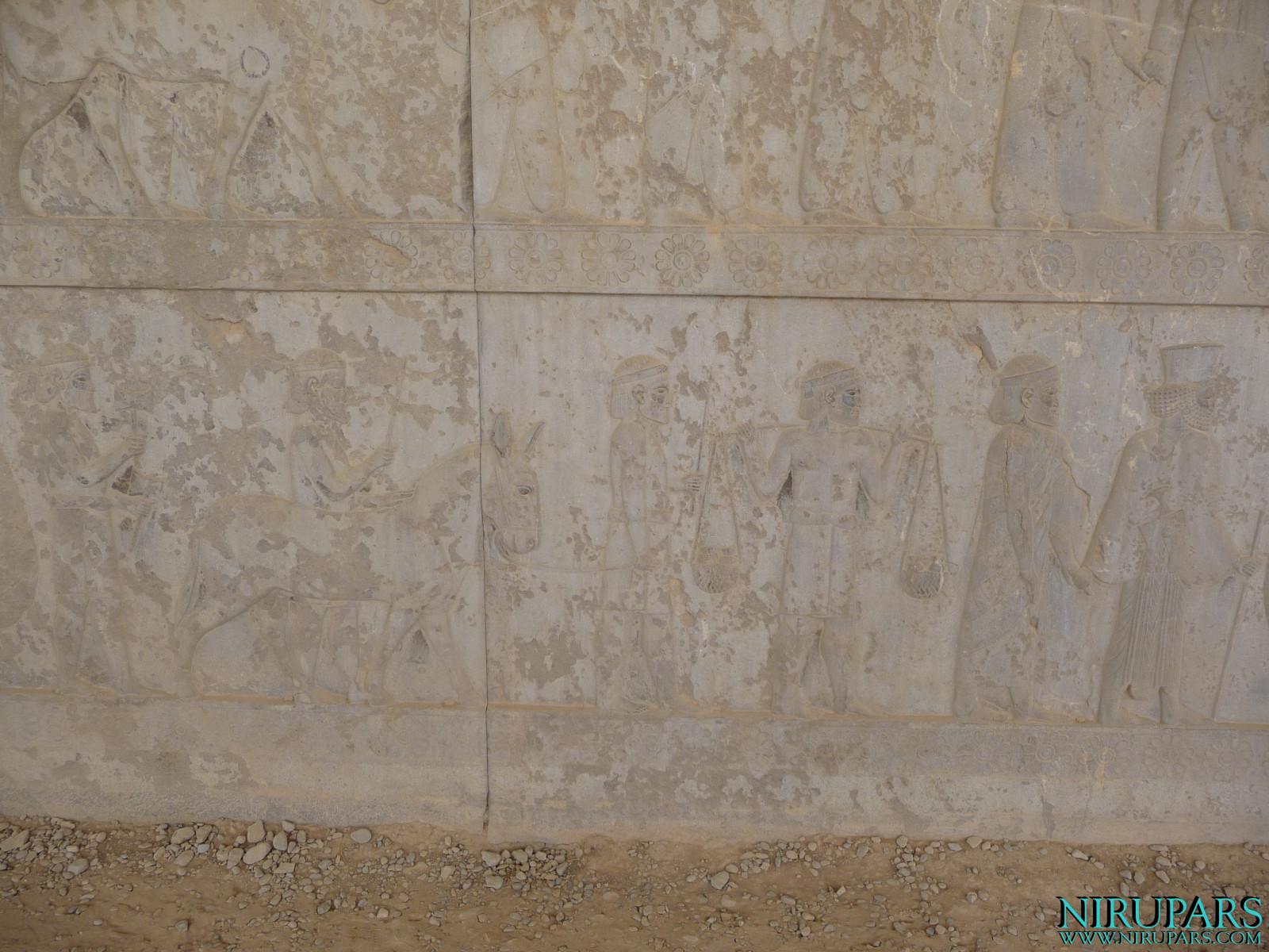 Persepolis - Apadana - East Portico - Delegation India