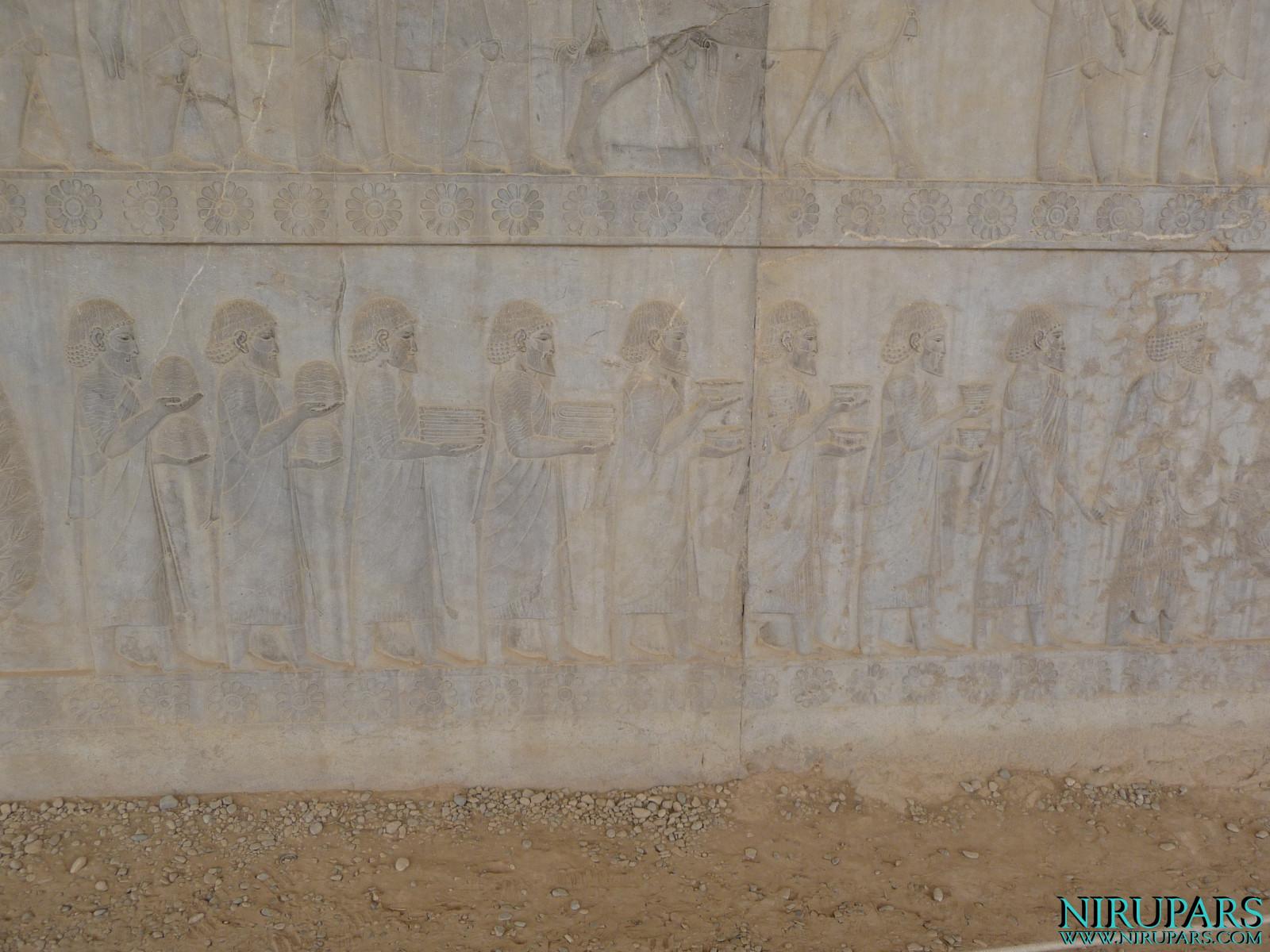 Persepolis - Apadana - East Portico - Delegation Ionia