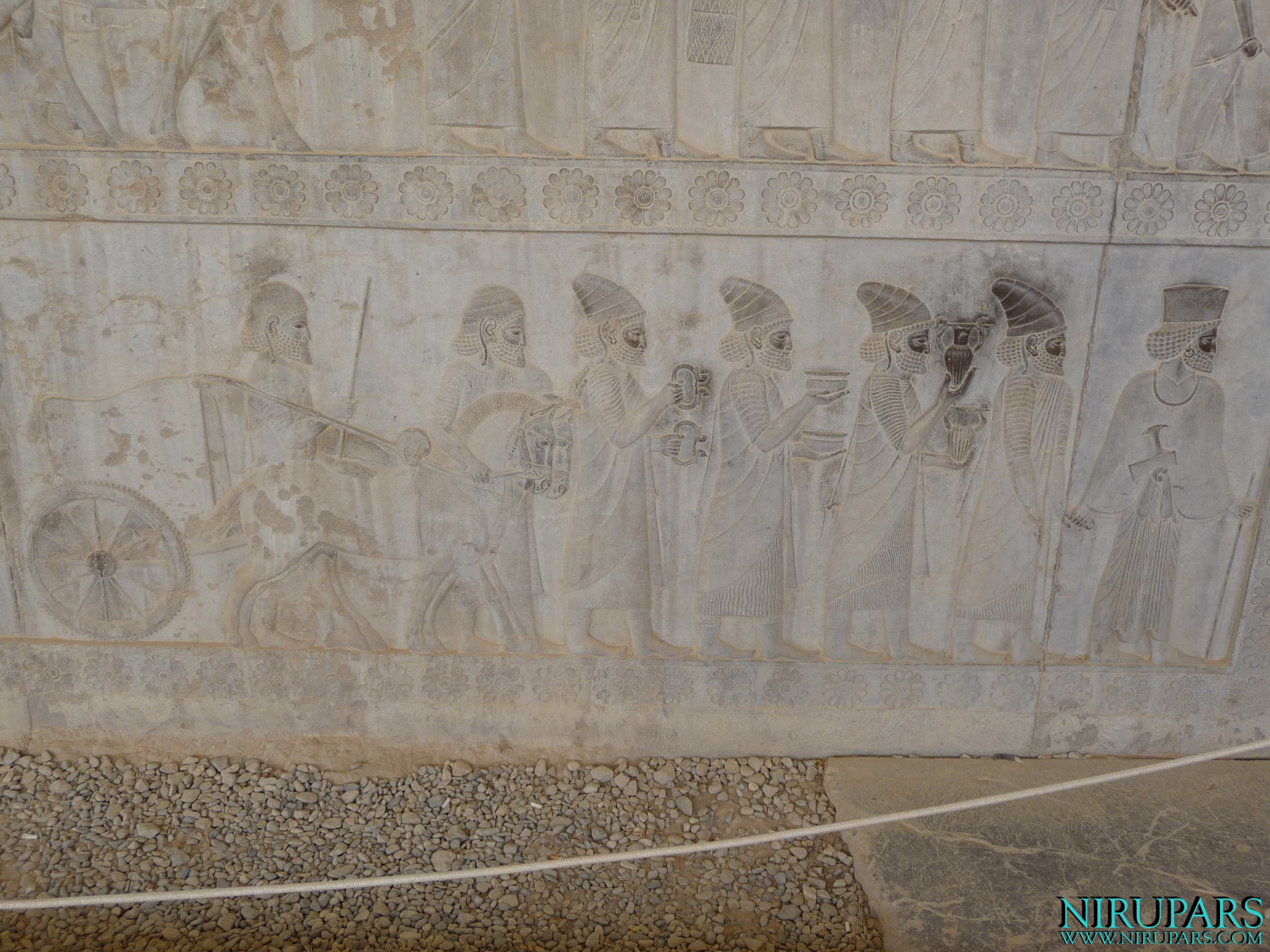 Persepolis - Apadana - East Portico - Delegation Lydia