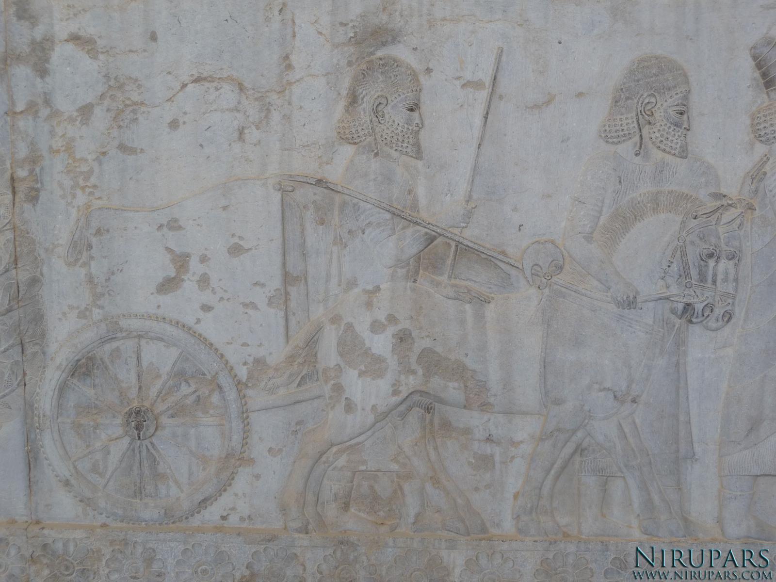 Persepolis - Apadana - East Portico - Delegation Lydia - Chariot