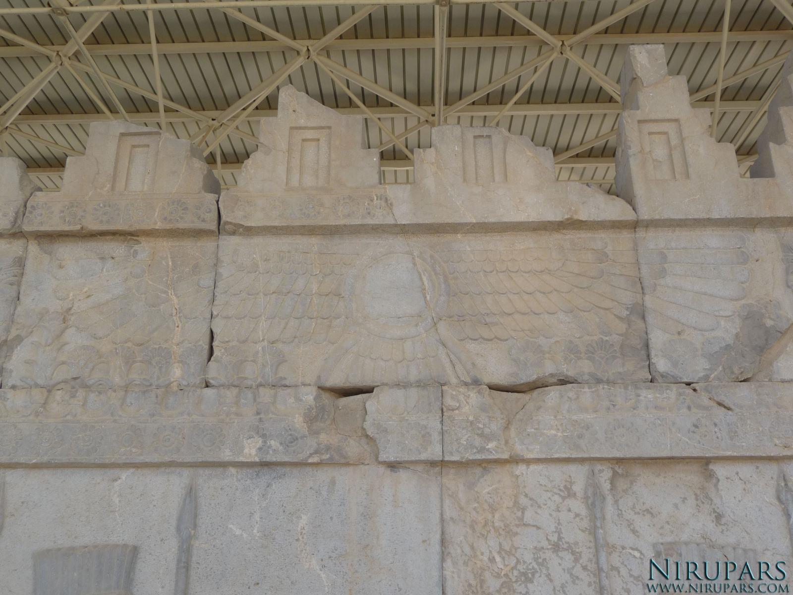 Persepolis - Apadana - East Portico - Relief Faravahar