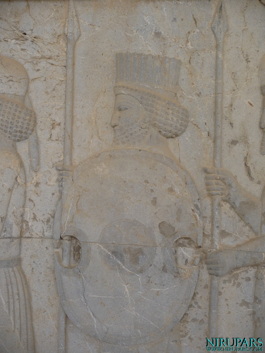 Persepolis - Apadana - East Portico - Relief Palace Troops