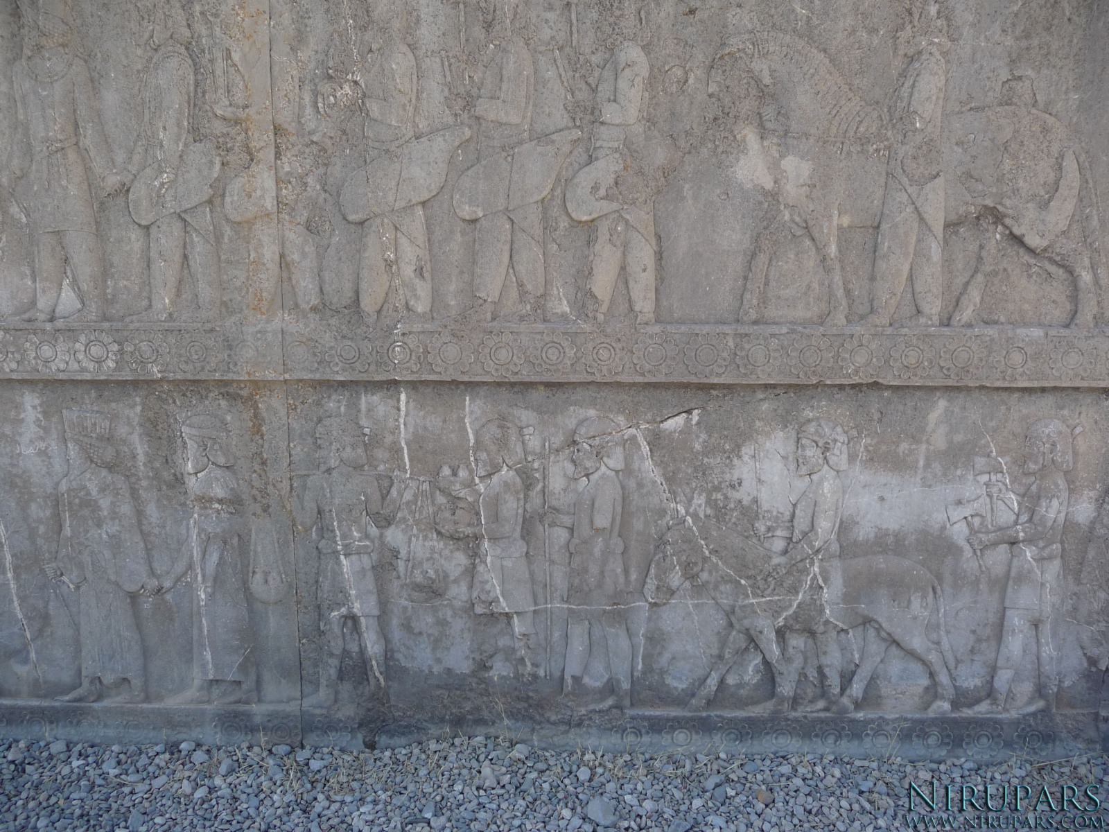 Persepolis - Apadana - North Portico - Delegation India