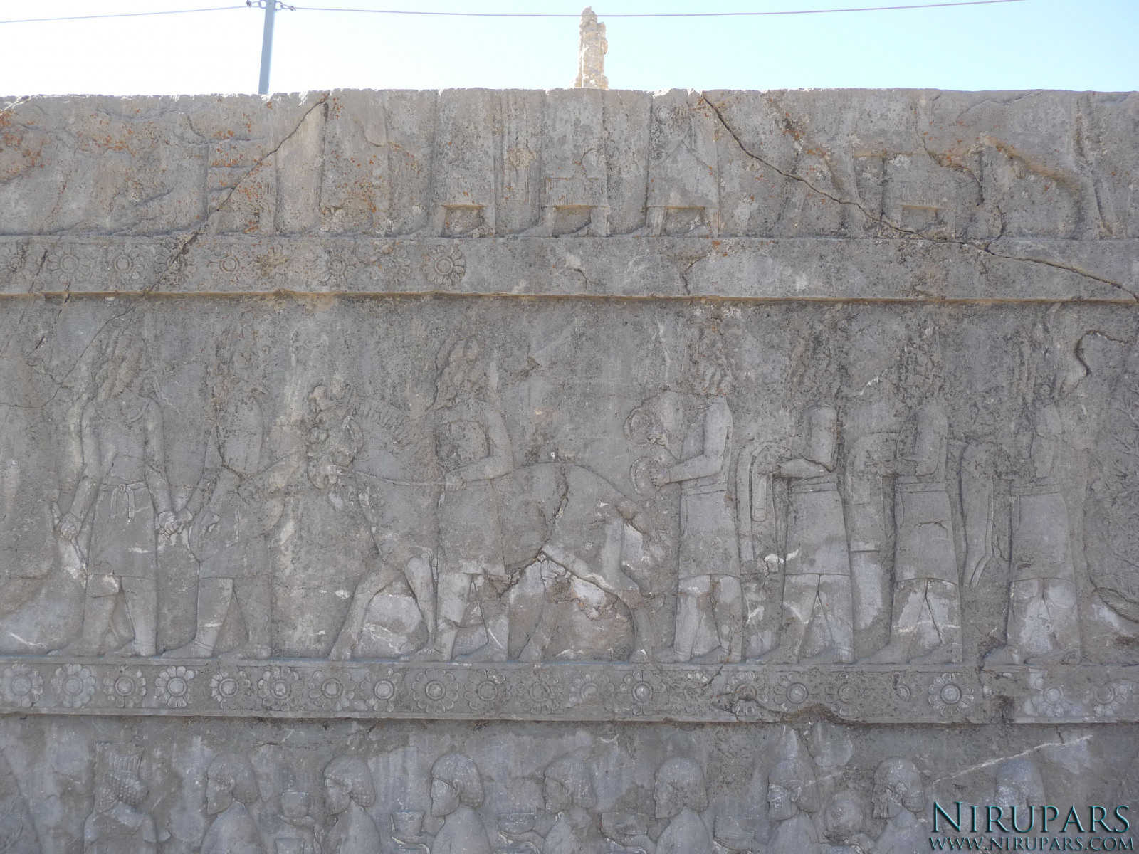 Persepolis - Apadana - North Portico - Delegation Scythia