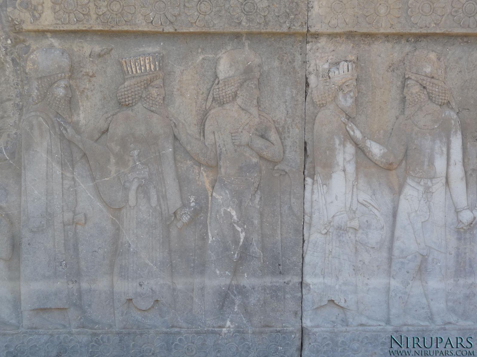 Persepolis - Apadana - North Portico - Noblemen
