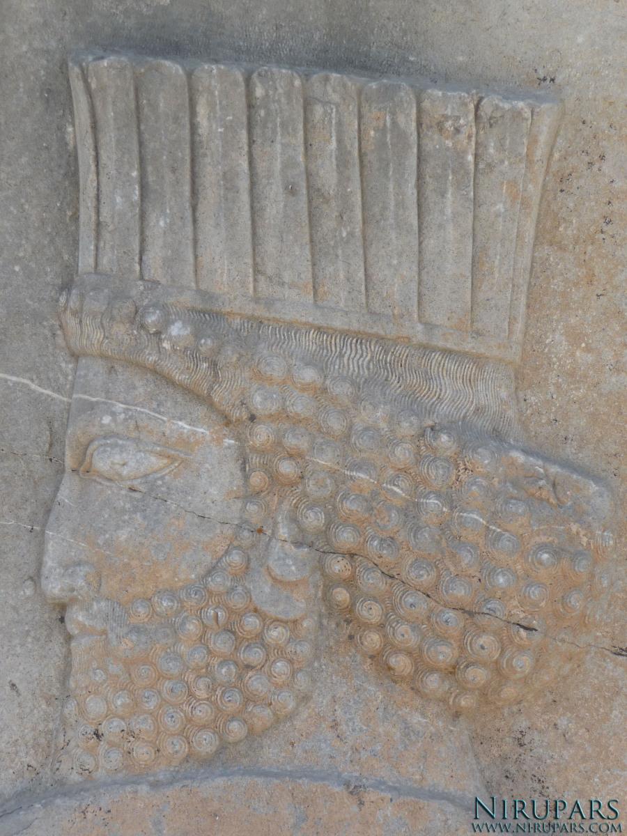 Persepolis - Apadana - North Portico - Persian Soldier