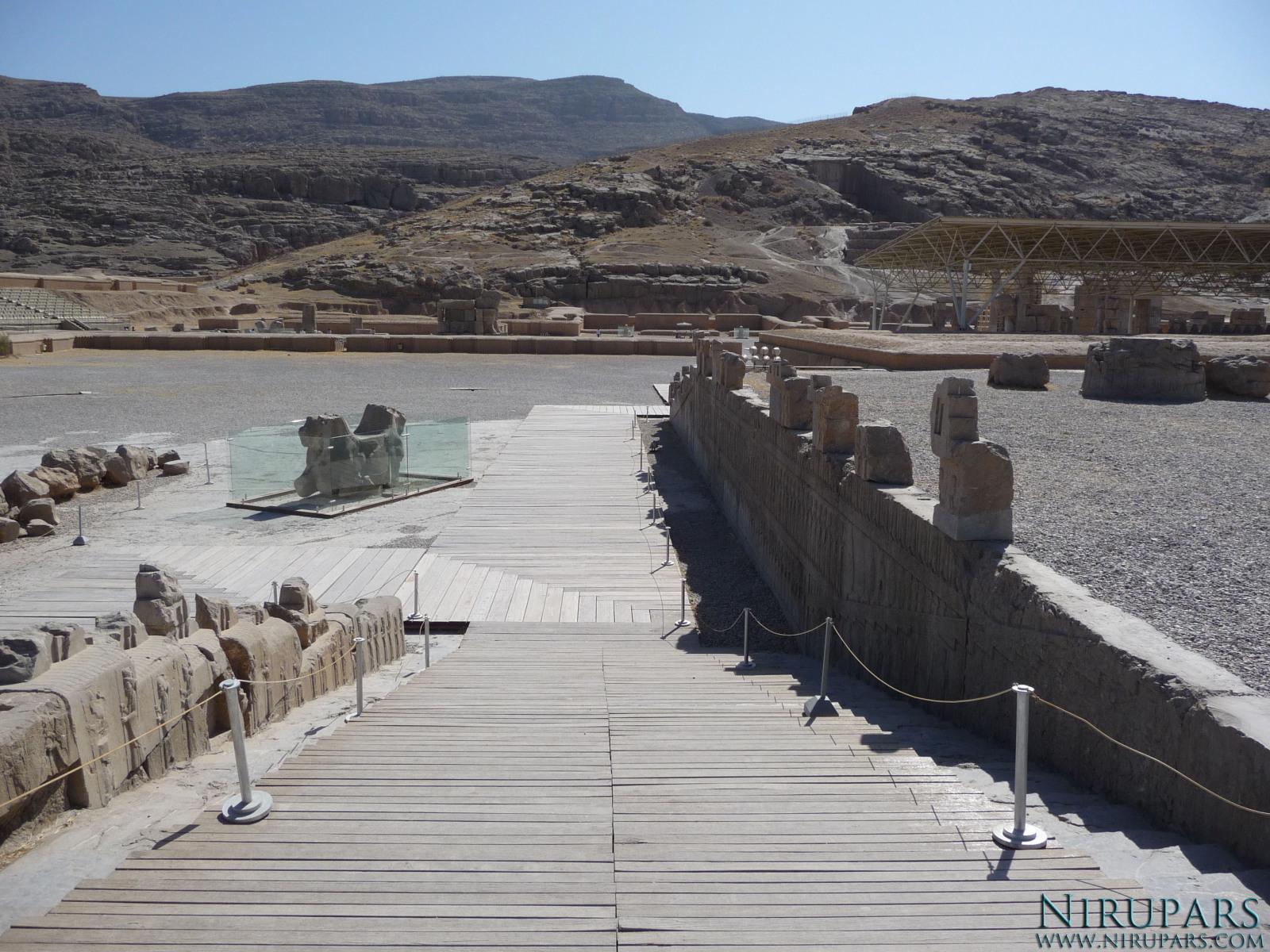 Persepolis - Apadana - North Portico - Right Stairway