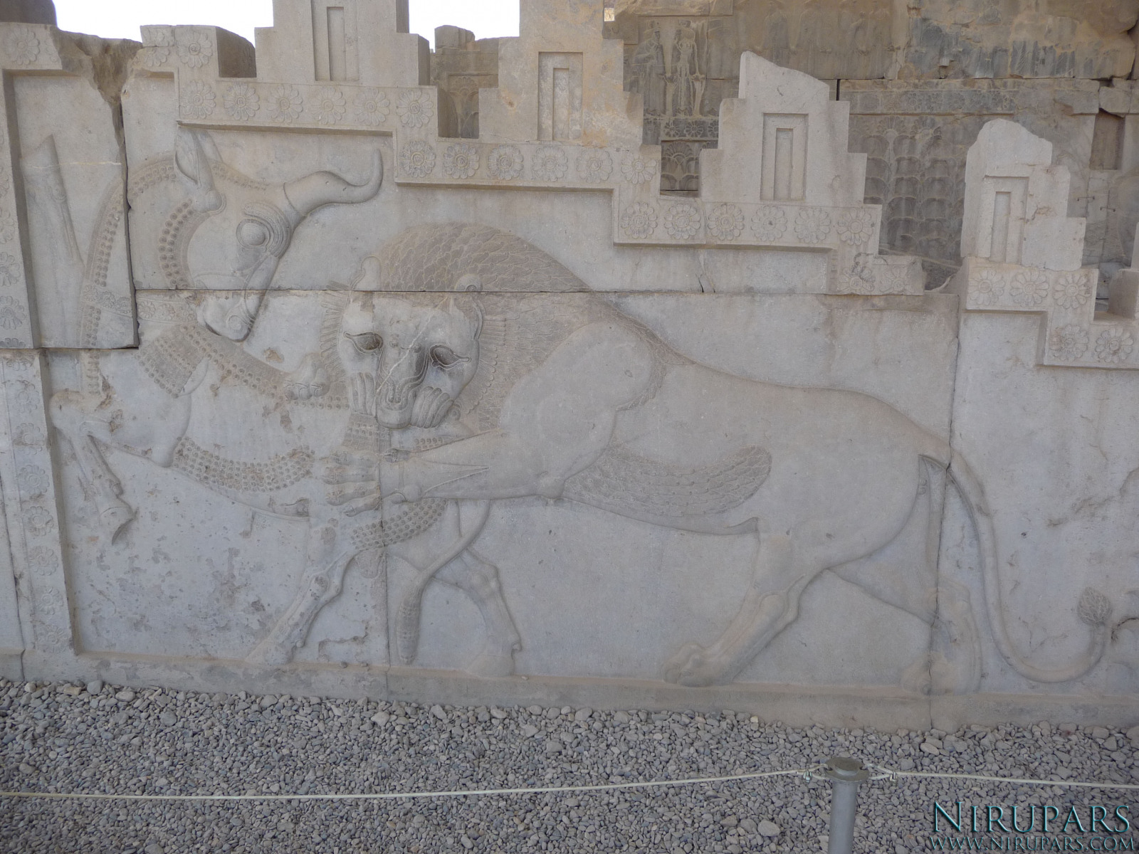 Persepolis - Council Hall Tripylon - North Portico - Lion Bull Relief