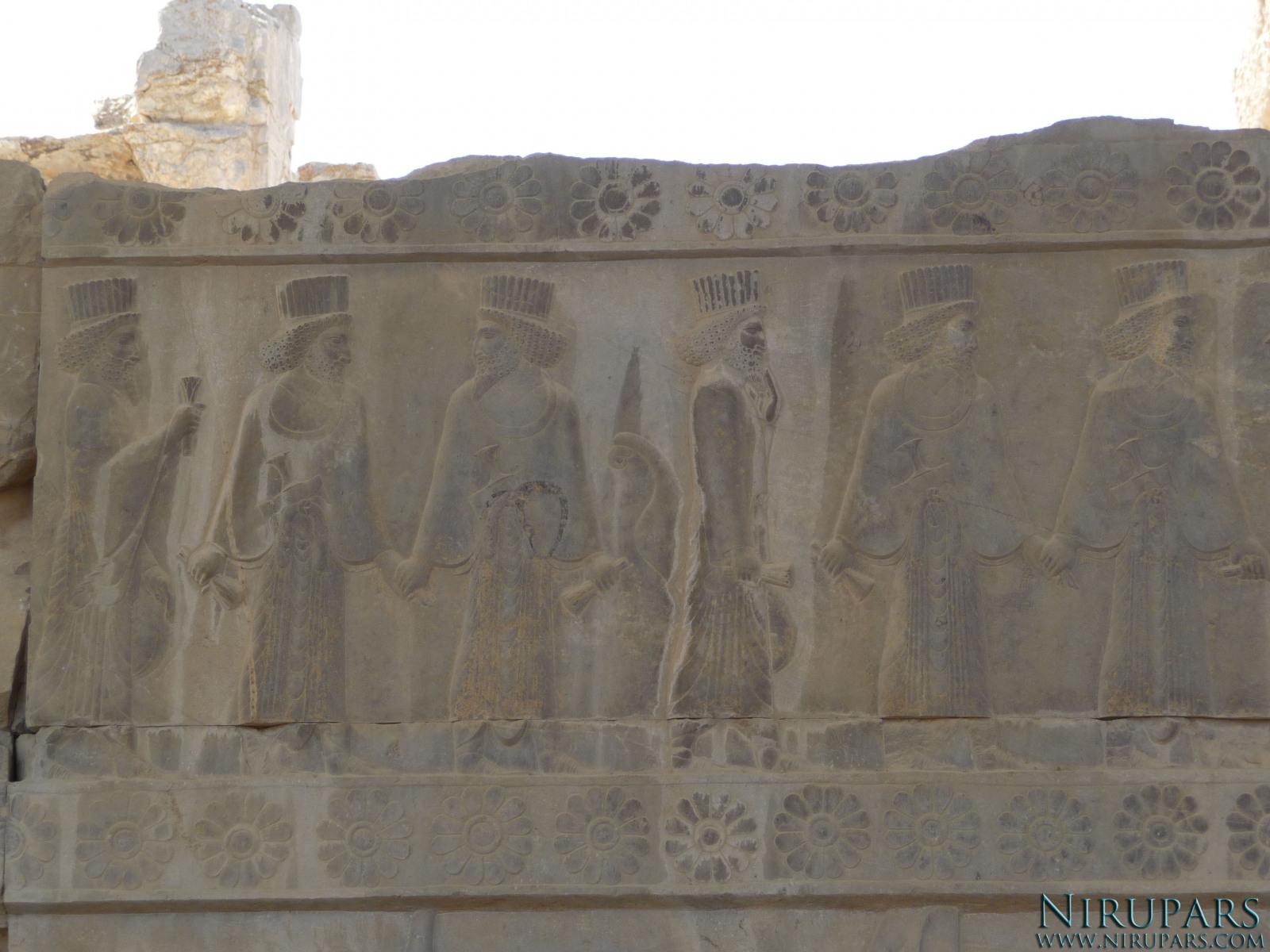 Persepolis - Council Hall Tripylon - North Portico - Relief Nobleman