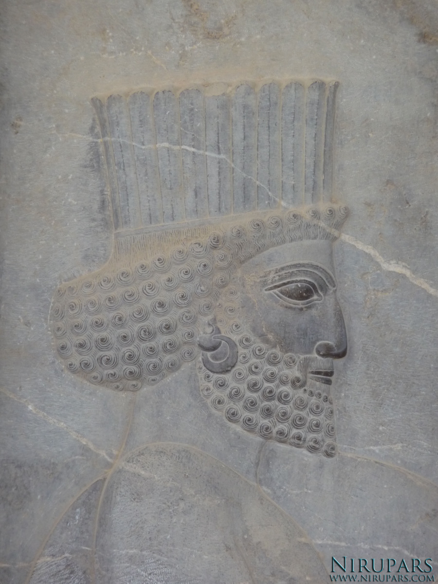 Persepolis - Council Hall Tripylon - North Portico - Relief Persian Soldier