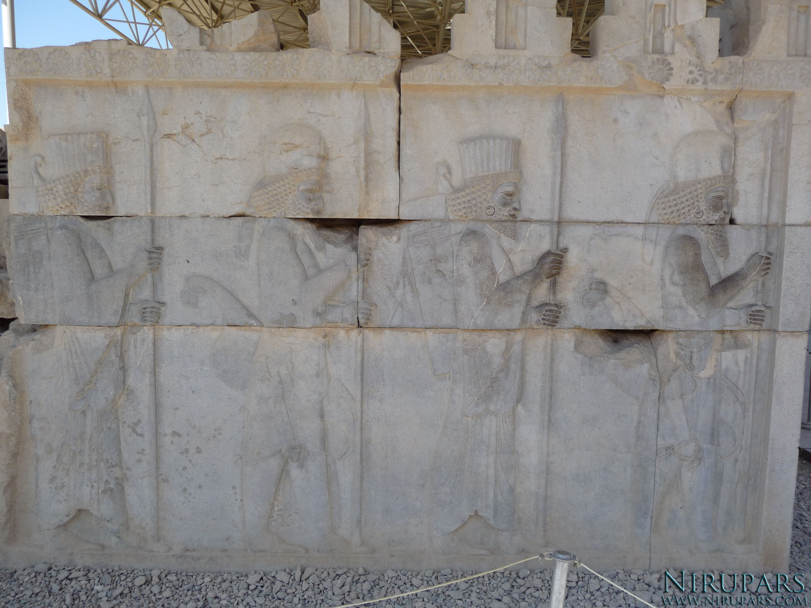 Persepolis - Council Hall Tripylon - North Portico - Relief Elite Troops